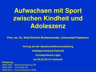 Aufwachsen mit  Sport zwischen Kindheit und Adoleszenz