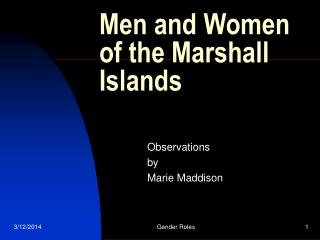 Men and Women of the Marshall Islands