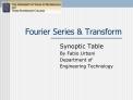 Fourier Series  Transform