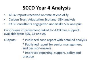SCCD Year 4 Analysis
