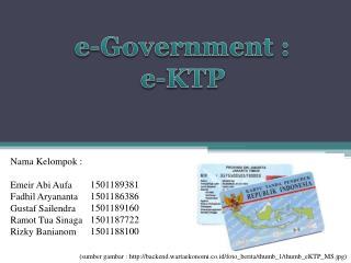 e-Government : e-KTP