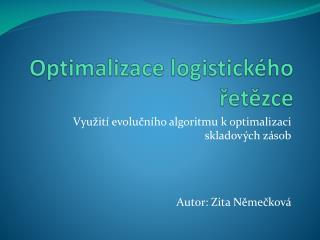 Optimalizace logistického řetězce