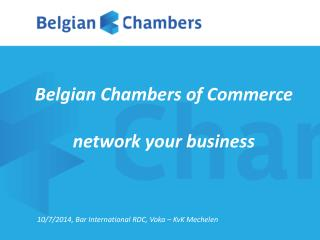 Belgian Chambers of Commerce network your business