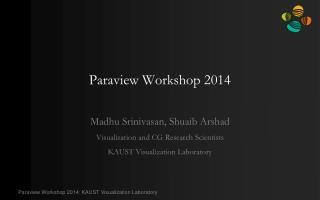 Paraview  Workshop 2014