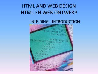 HTML AND WEB DESIGN HTML EN WEB ONTWERP