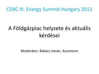 CEBC III.  Energy  Summit Hungary 2012