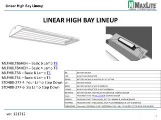 Linear High Bay Lineup