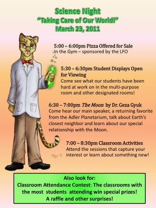 """Science Night  """"Taking Care of Our World!"""" March 23, 2011"""