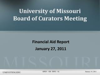 University of Missouri Board of Curators Meeting