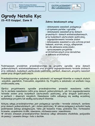 Ogrody Natalia  Kyc 23-415  Księżpol, Zanie  8