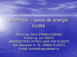 BIOMASA   sursa de energie curata