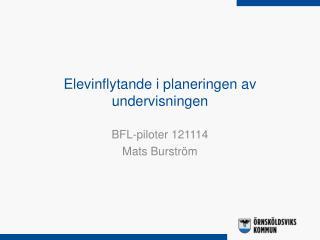 Elevinflytande i planeringen av undervisningen