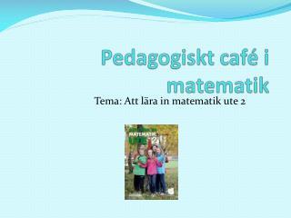 Pedagogiskt café i matematik