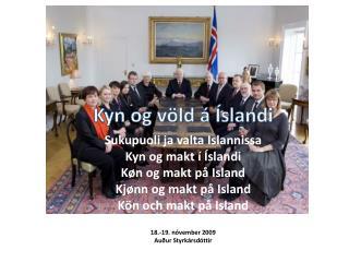Kyn og völd á Íslandi Sukupuoli  ja valta  Islannissa Kyn og  makt  í Íslandi