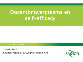 Docentontwerpteams en self-efficacy