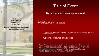 Title of Event