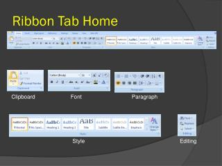 Ribbon Tab Home