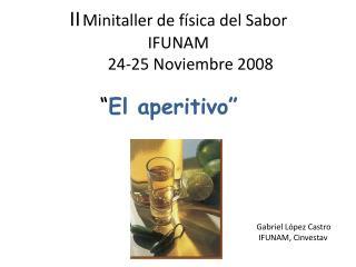 II Minitaller  de física del Sabor                     IFUNAM           24-25 Noviembre 2008