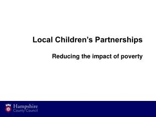 Children and Young People s Plan
