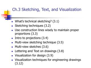 Ch.3 Sketching, Text, and Visualization