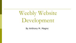 Weebly  Website  Development