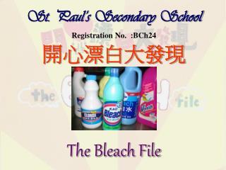 St. Paul s Secondary School Registration No.  :BCh24