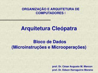 Arquitetura Cle�patra Bloco de  Dados ( Microinstru��es e Microopera��es)