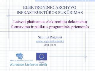Elektroninio archyvo infrastruktūros sukūrimas