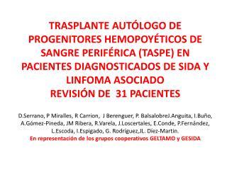 Paciente                         31 Linfomas asociados a SIDA,