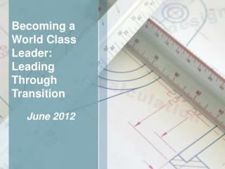 Becoming a World Class Leader: Leading Through Transition