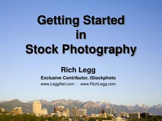 Getting Started in Stock Photography