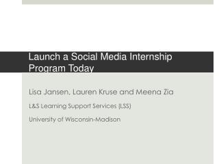 Launch a Social Media Internship Program Today