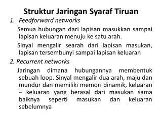 Struktur Jaringan Syaraf Tiruan