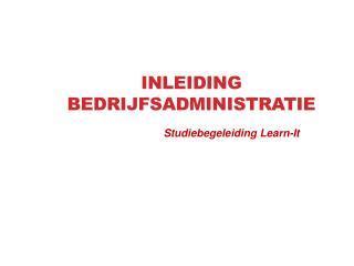Inleiding Bedrijfsadministratie