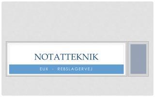 NOTAT TEKNIK