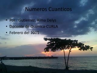 Numeros Cuanticos