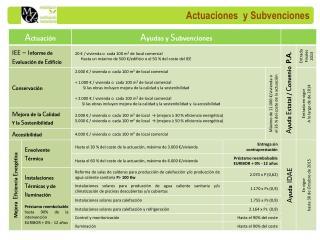 Actuaciones  y Subvenciones