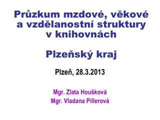 Průzkum mzdové, věkové  a vzdělanostní struktury  v knihovnách Plzeňský kraj