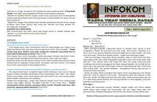 Edisi :  XVIII/12  Agst  2012