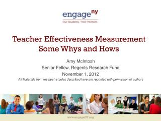 Teacher Effectiveness Measurement Some Whys and Hows