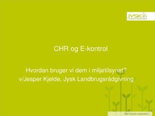 CHR og E-kontrol