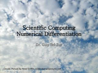 Scientific Computing Numerical Differentiation