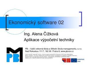 Ekonomický software 02
