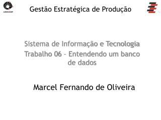 Sistema de Informação e Tecnologia Trabalho  06 – Entendendo um banco de dados