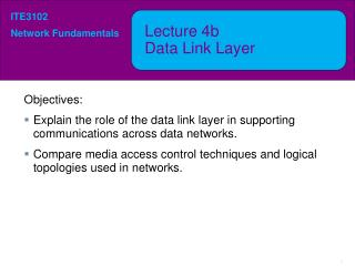 Lecture  4b Data Link Layer