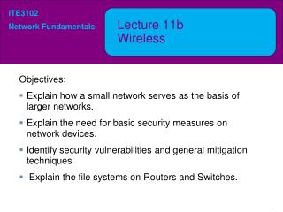 Lecture  11b Wireless