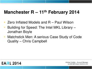 Manchester R – 11 th  February 2014