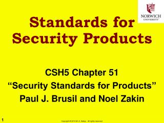Standards for Security Products