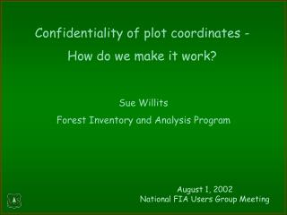 Sue Willits Forest Inventory and Analysis Program