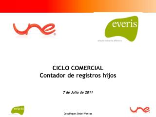 CICLO COMERCIAL Contador de registros hijos